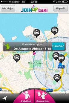 Ubicación Taxis en Donostia